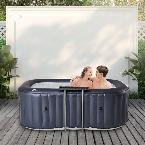 Outdoor-Whirlpool 2 Personen, Garten-Whirlpool Massagedüsen, Hot-Tub Whirlpool