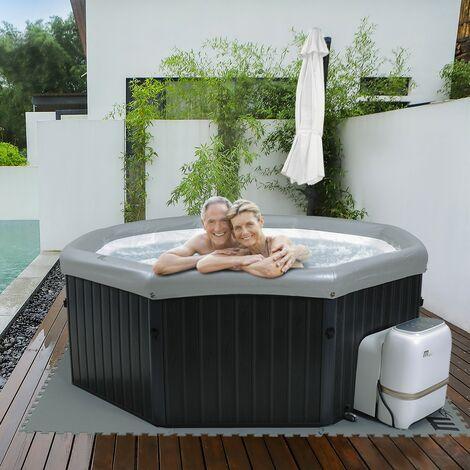 Outdoor Whirlpool MSPA TUSCANY Holzoptik 6 Personen Garten Massage Pool 2021