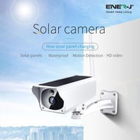 Outdoor Wireless WiFi IP Camera with Inbuilt Battery & Solar Panel for Charging. No need cables. 1080P HD Resolution.