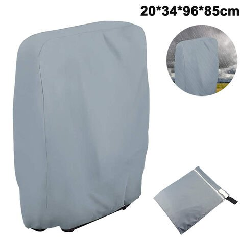 Outdoor Zero Gravity Folding Chair Cover Waterproof Dustproof Lawn Patio Furniture Covers All Weather Resistant, 20/34*W96*H85cm, gray