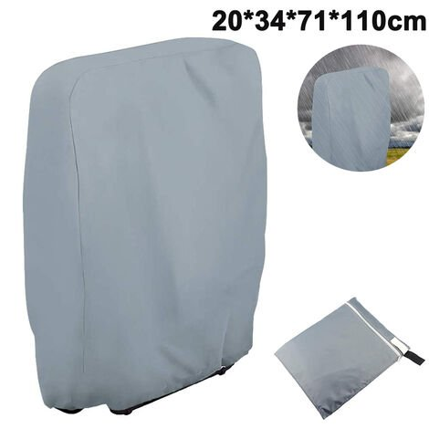 Outdoor Zero Gravity Folding Chair Cover Waterproof Dustproof Lawn Patio Furniture Covers All Weather Resistant, 20/34xW71xH110cm, gray