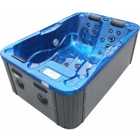 Outdoorwhirlpool Modena Blau - inklusive Abdeckung 205 x 130 x 70