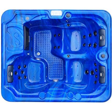 Outdoorwhirlpool Oasis Blau - inklusive Abdeckung und Stiege 208 x 175 x 90