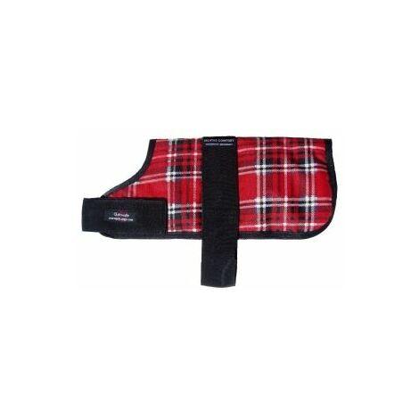Outhwaite Padded Dog Coat Red Tartan 45cm x 1 (352095)