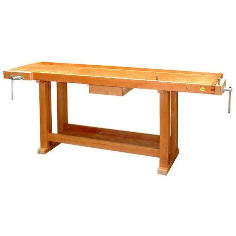 Outifrance – Etabli bois de menuisier longueur 2,00m - 1 Tiroir et Presse