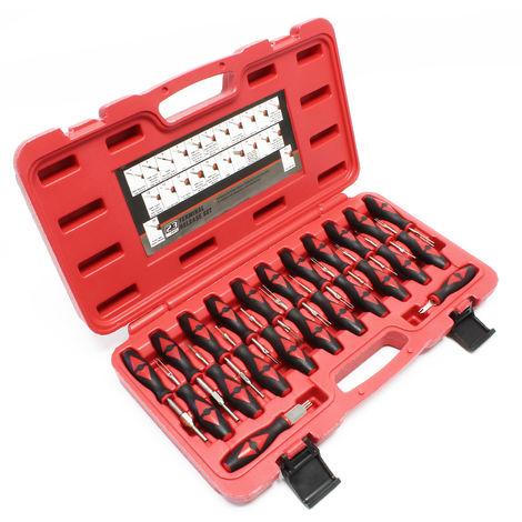 Outil de déblocage 23 pcs. Jeu universel Extracteur de pins Cosses ISO Automobile