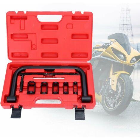 Outil de montage de compresseur de ressort de soupape de ressort de soupape universel BMOT Ensemble de presse à ressort de soupape 10-TLG avec étui, pour motos