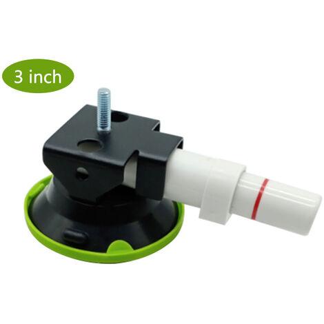 Outil de reparation de depression de voiture domestique de trois pouces pompe a ventouse base de nivellement de la lampe support accessoires pompe a vide domestique de trois pouces a base de ventouse de pompe blanche