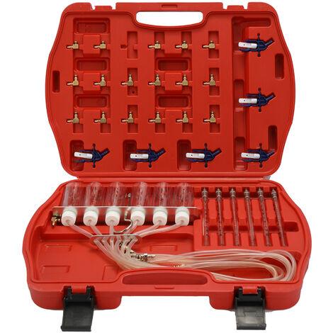 Outil de test d'injecteur de carburant diesel Testeur de debit de carburant Jeu de joints de test d'injecteur de carburant