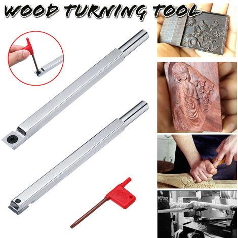 Outil de tournage en bois ciseau à pointe en carbure carré bricolage coupe-tour rotatif en bois + T15 Style B