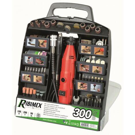Outil electrique multifonction + 300 accessoires en malette – Ribimex