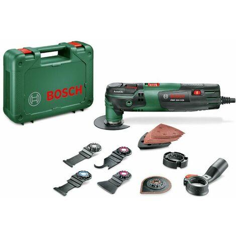 Outil multi-usage Bosch Home and Garden PMF 250 CES Set 0603102101 + accessoires, + mallette 16 pièces 250 W 1 set W055781