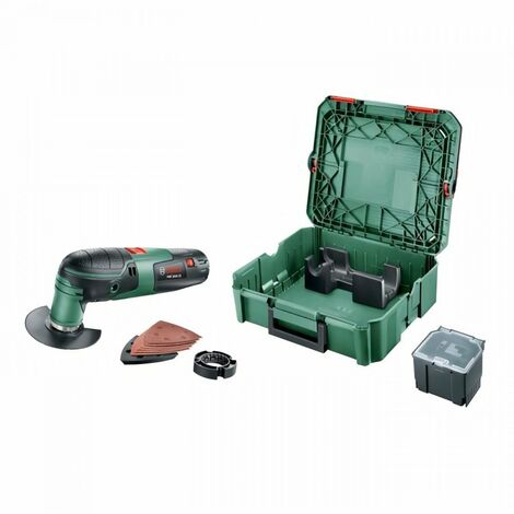 Outil multifonction BOSCH - PMF 2000 + 1 boîte a outils Systembox + Accessoires