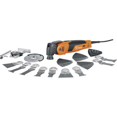 Outil multifonction Fein Supercut FSC 500 QSL 72294662000 + accessoires, + mallette 33 pièces 450 W 1 set S418021