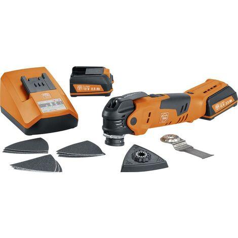 Outil multifonction sans fil Fein MultiTalent AFMT12QSL 71292561000 + 2 batteries, + accessoires, + mallette 15 pièces