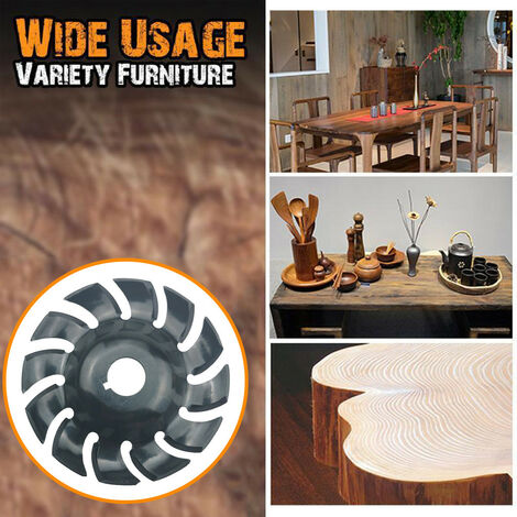 Outil multifonctionnel de travail du bois de meuleuse d'angle de disque de sculpture sur bois de dureté élevée