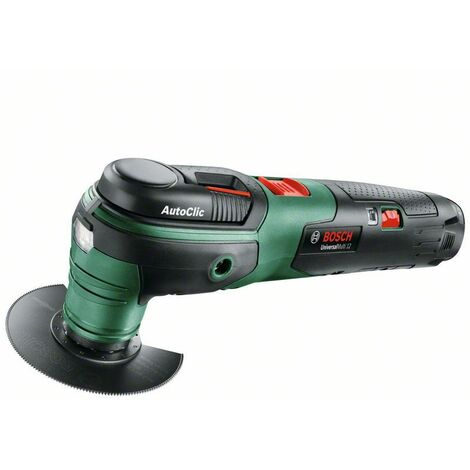 Outil multifonctions Bosch UniversalMulti 12 + 1 batterie - Green