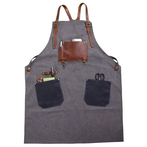 Outil Tabliers de travail d'artisan en toile coton style rétro (gris)