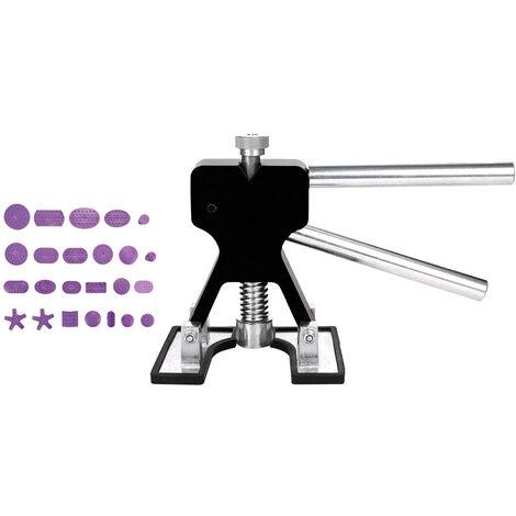 Outils Auto Carrosserie Debosselage Sans Peinture Reparation D'Outils Qualite Fine Dent Lifter Purple Mixte Tirer Dessin Joint Colle Tab, Noir