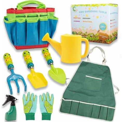 Outils de jardin pour enfants, outils de jeu de jardin / plage, ensemble d'outils de jardin extérieur cadeau pour garçon fille 4ans et plus.