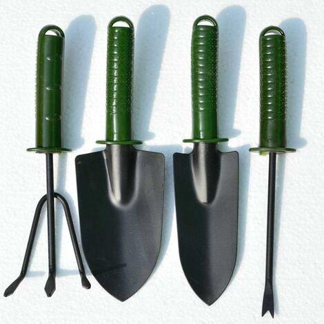 Outils De Jardinage Set, Outils De Jardin 4 Pièces, Set D'outils De Jardin Outils De Jardin Portable Set, Outils Set Cadeaux De Jardinage,Vert