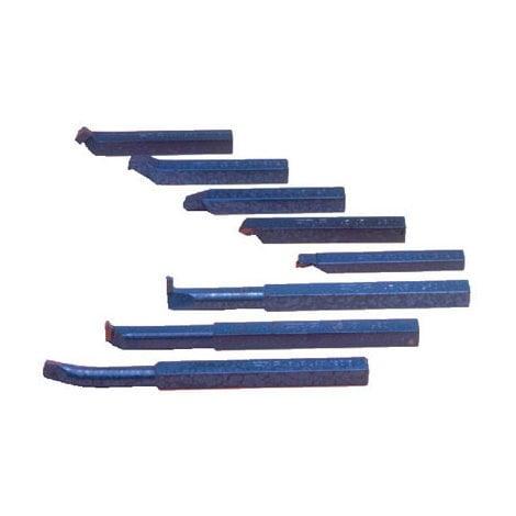 Outils de précision - tour à métaux - 9 pièces - 12 x 12 mm