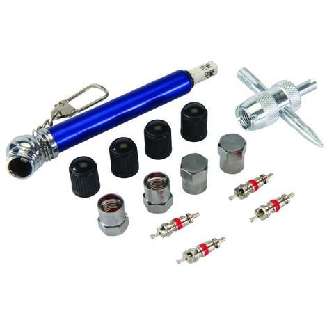 Outils de réparation pour valves de pneus, 14 pcs 10 - 50 psi