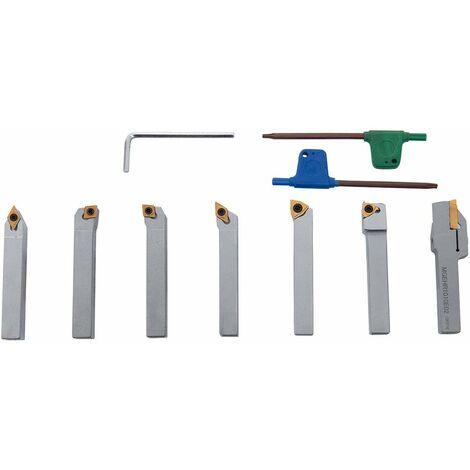 Outils de tournage carbure revêtus TIN queue de 10 mm pour tour à métaux