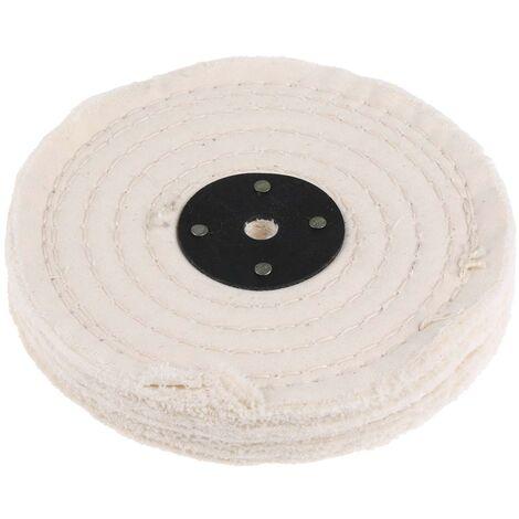 Tissu de roue de polissage de coton Polissage de tampon de roue Arbor tampon miroir 50 couches outils abrasifs 2 pouces