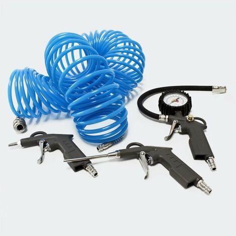 Outils pneumatiques de 4 pièces Accessoires avec un tuyau