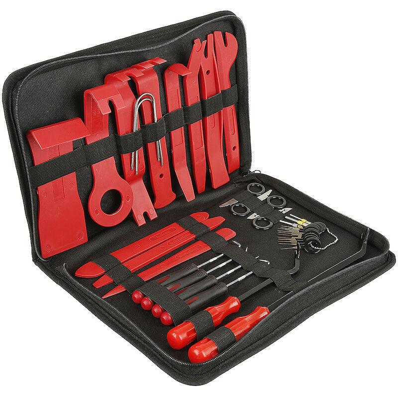 Outils pour garnitures, Kit d'outil de dépose de Panneau de Porte Automatique - Rouge