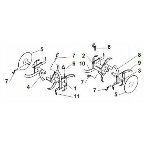 Outils standard 135 motoculteur Honda