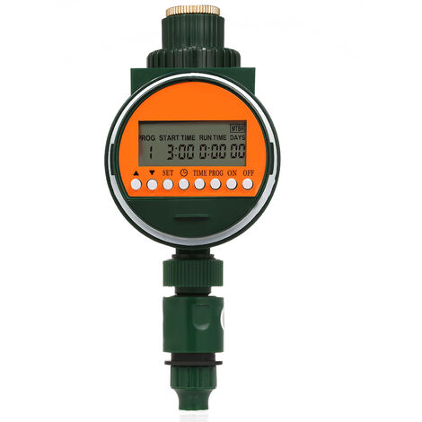 "Outlet Programmable Hose Faucet Timer With Rain Sensor 3/4"" 1/2"" Tap Automatic Water Gateway"