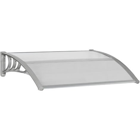 Outsunny 100cm Single Door Window Canopy Rain Shelter Cover Protector Clear