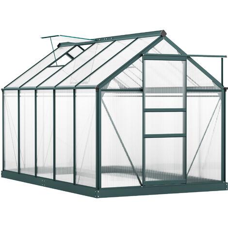 Outsunny 10x6ft Aluminium Frame Clear Walk-In Greenhouse Plantsw/ Sliding Door