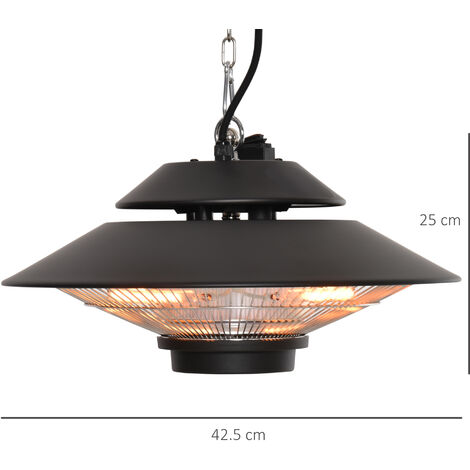 """main image of """"Outsunny 1500W Electric Patio Heater Outdoor Garden Ceiling Mounted w/ Remote"""""""