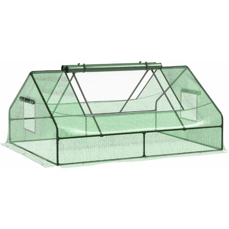 Outsunny 1.8 x 1.4m Mini Greenhouse Portable Flower Planter Garden w/ Zipper