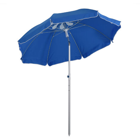 Outsunny 1.9m Beach Umbrella Outdoor Sun Shade w/ Angle Tilt Carry Bag Blue