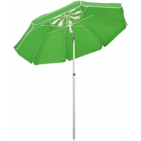Outsunny 1.9m Beach Umbrella Outdoor Sun Shade w/ Angle Tilt Carry Bag Green