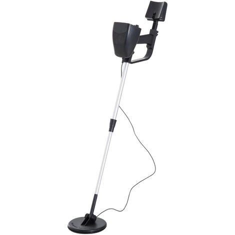 Outsunny 2 Modes Metal Detector for Beginners Treasure Hunter Gold - Black