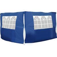 Outsunny 2 Paredes Laterales 2x3m (Alto x Largo) + Ventanas para Carpa 3x3 3x6 3x9 Azul
