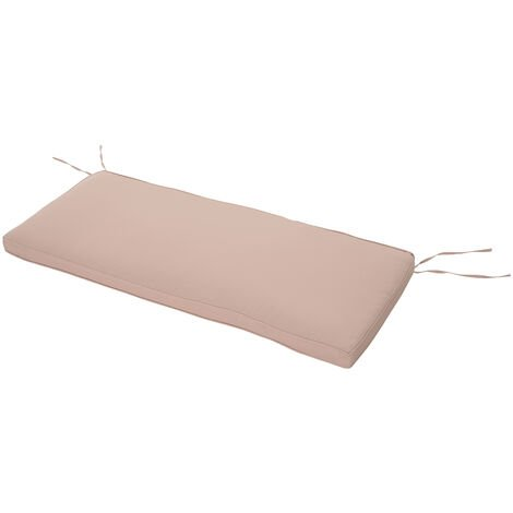 Outsunny 2-Seater Cushion Cover Bench Garden Replacement Pad 110x46cm Beige