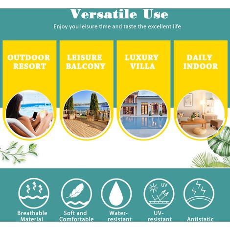 """main image of """"Outsunny 2 Seater Sofa Sun Lounger Rattan Daybed Love Sunbed"""""""