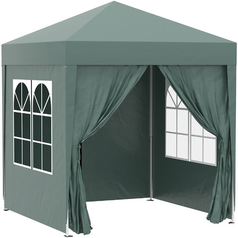 Outsunny 2 x 2m Garden Pop Up Gazebo Party Tent Wedding w/ Carrying Case
