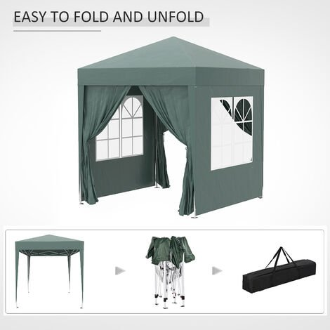 """main image of """"Outsunny 2 x 2m Garden Pop Up Gazebo Party Tent Wedding w/ Carrying Case"""""""