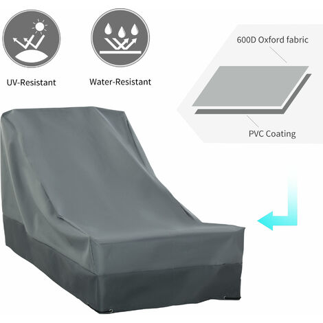 Outsunny 200x86cm Outdoor Garden Furniture Protective Cover Water UV Resistant