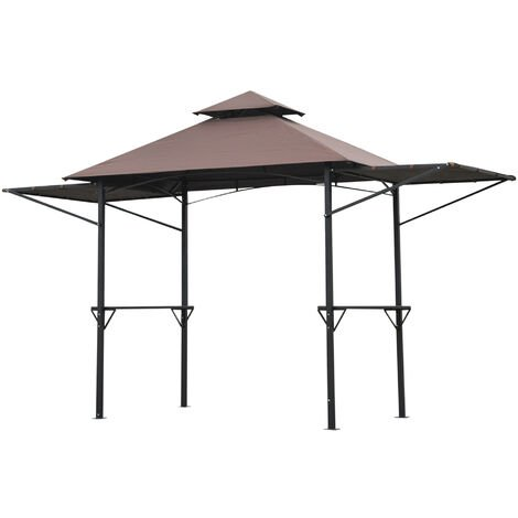 Outsunny 2.5 x 1.5m BBQ Tent Picnic Gazebo Shelter Portable Waterproof