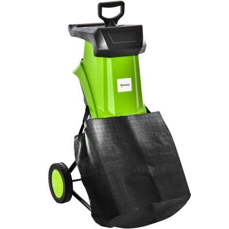 """main image of """"Outsunny 2500W Electric Garden Shredder Wood Chipper Branch Cutter w/ 50L Bag"""""""