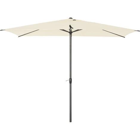 Outsunny 2.58m Elegant Aluminium Garden Parasol Sun Umbrella Angled Canopy Beige