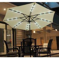 Outsunny 2.7m Patio Umbrella Parasol Sun Shade Tilt Crank Garden Aluminium